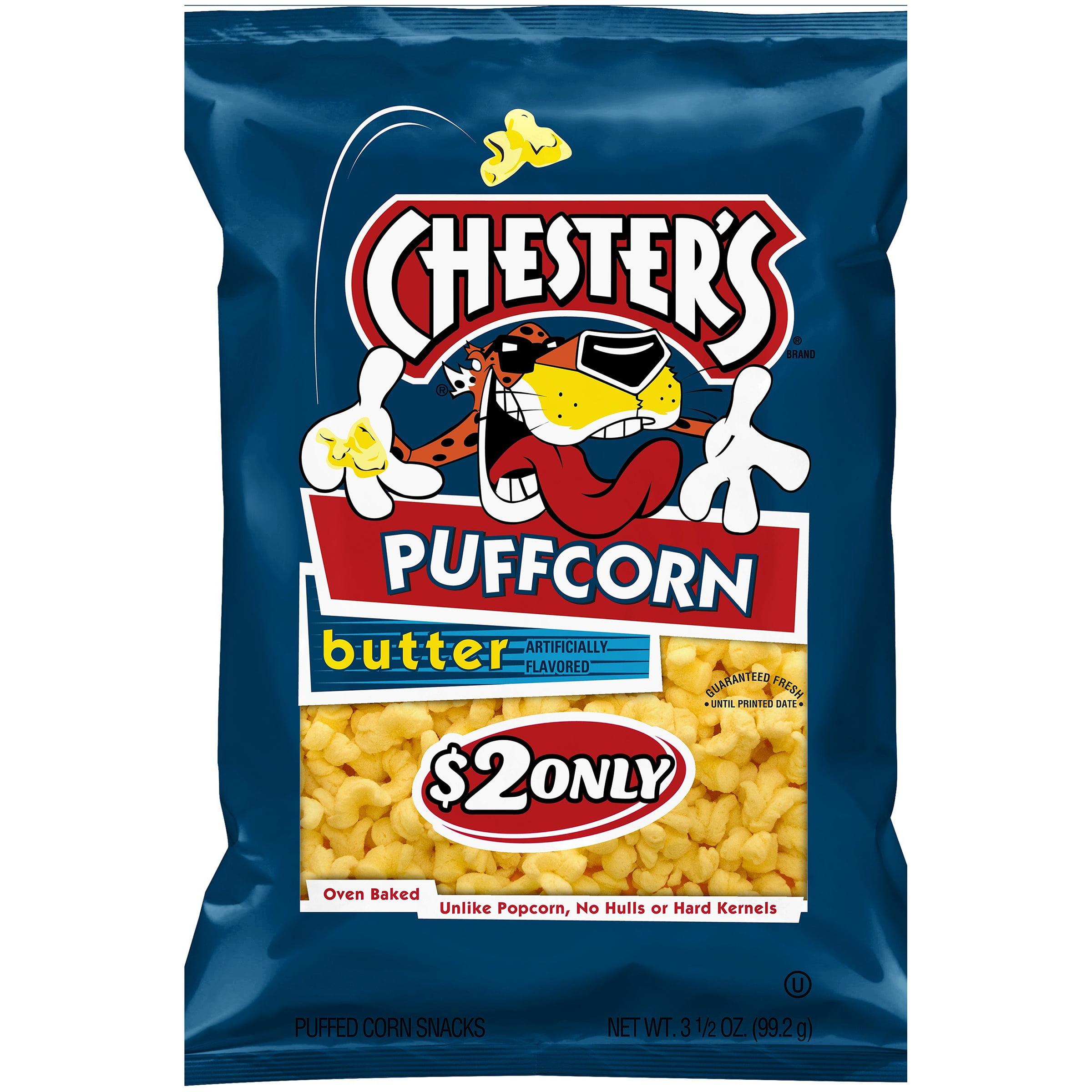 Chester's PuffCorn Butter Puffed Corn Snacks, 3.5 oz Bag