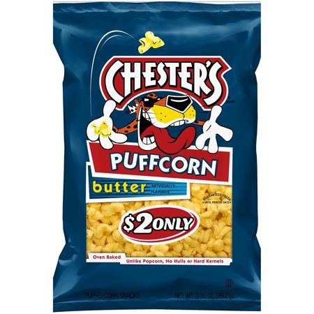Chester's PuffCorn Butter Puffed Corn Snacks, 3.5 oz Bag