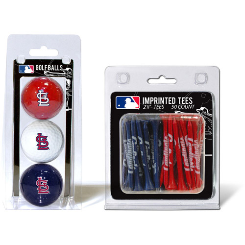 Team Golf MLB St Louis Cardinals 3 Golf Balls And 50 Golf Tees