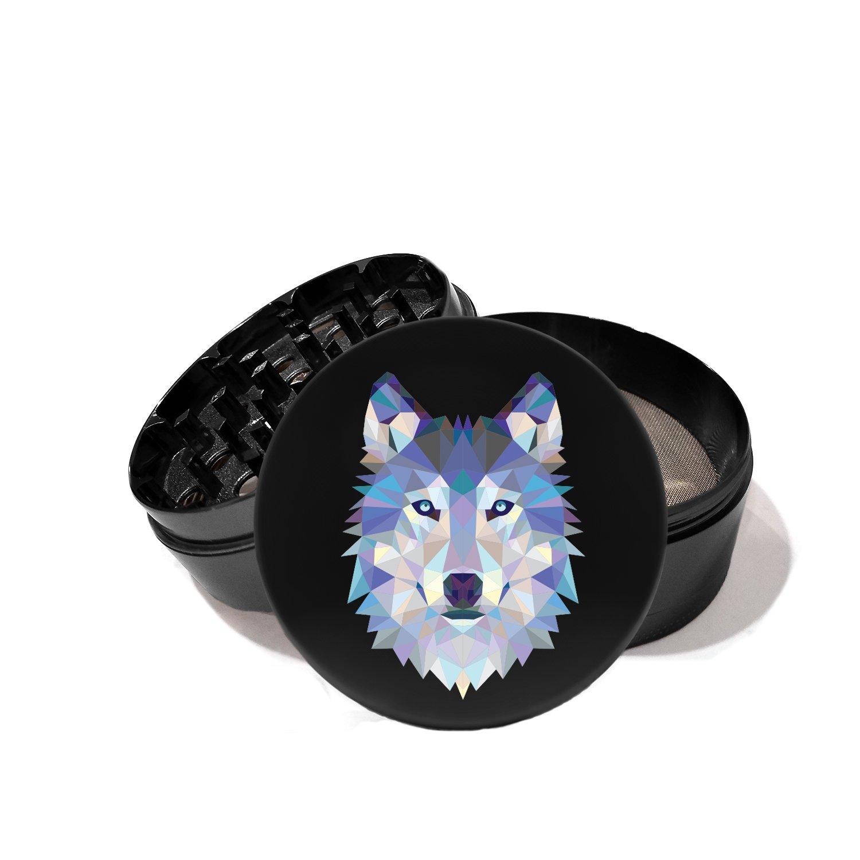 Geometric Polygon Shaped Wolf - UV Printed Grinder
