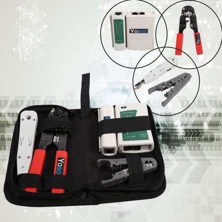 Professional Network Computer Maintenance Repair Tools Kit LAN Cable Tester For RJ45