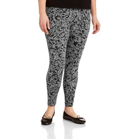 34a3c8697a2 Faded Glory - Women s Plus Size Essential Knit Legging - Walmart.com
