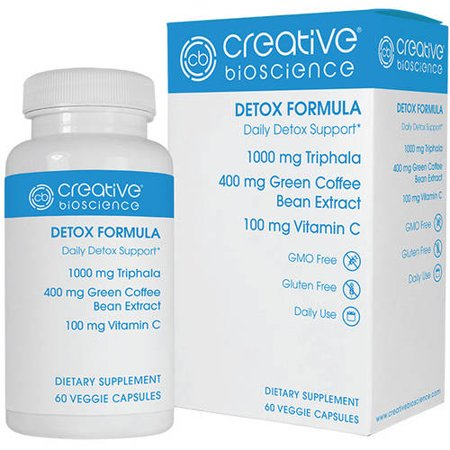Creative Bioscience Detox Diet 1234 Capsules Dietary Supplement  60 Count