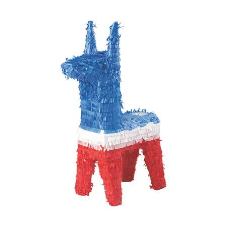 Fun Express Patriotic Fourth of July Donkey Pinata, 1ct (Pinata Donkey)