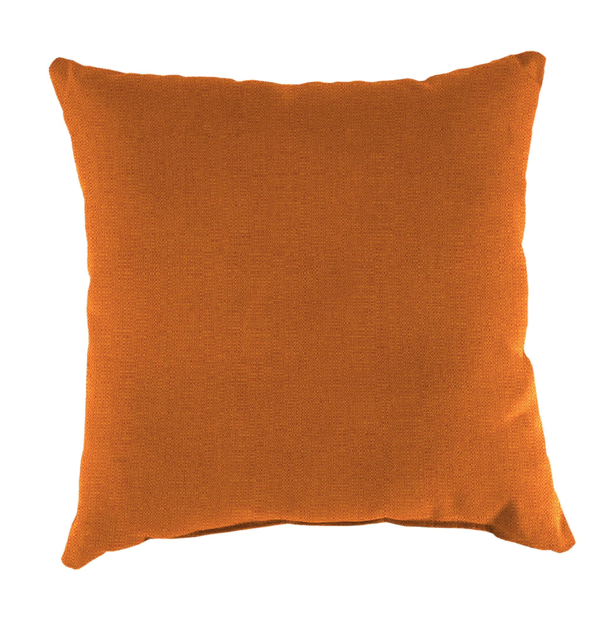 Mainstays Maindstays Solid Orange Pillow
