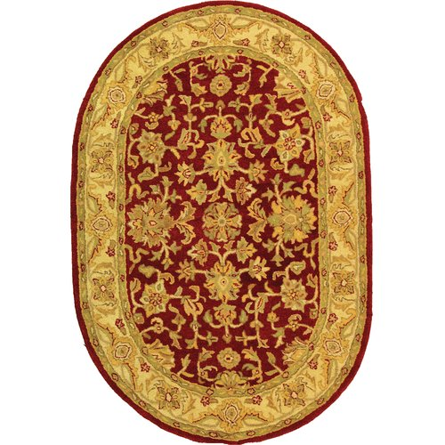 Charlton Home Dunbar Hand-Tufted Wool Red/Gold Area Rug