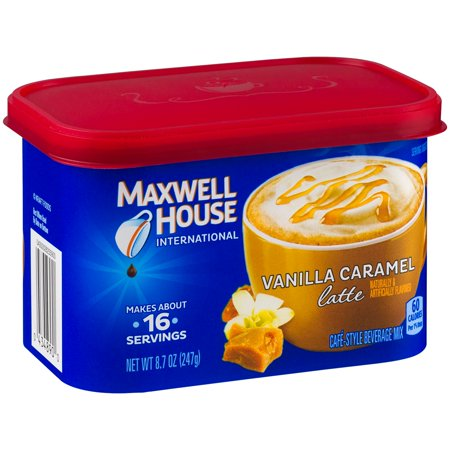 Maxwell House International Beverage Mix Vanilla Caramel Latte  8 7 Oz