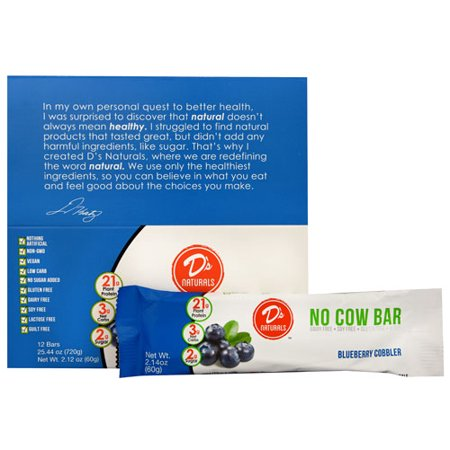Ds Naturals No Cow Bar Blueberry Cobbler    12 Bars Pack Of 1