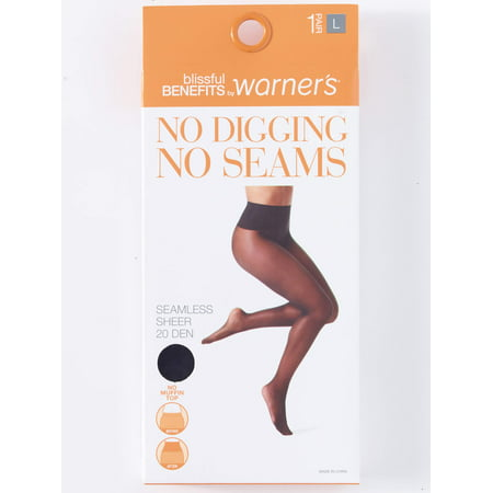 No Digging, No Seams Sheer Pantyhose, 1 Pair