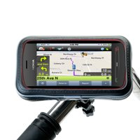 Heavy Duty Weather Resistant Bicycle / Motorcycle Handlebar Mount Holder Designed for the Nokia PureView / RM-807