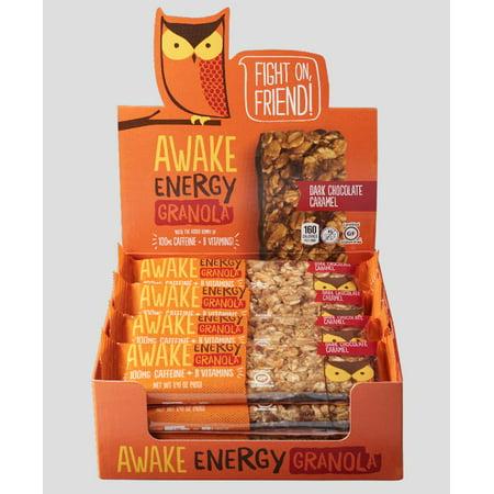 Awake Dark Chocolate Caramel Energy Granola Bars Review