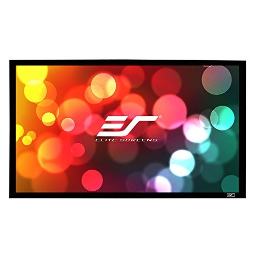 Elite Screens ER120WH1-A1080P3 Sable Frame Wall Mount Fixed Frame Projection Screen (120' 16:9 Aspect Ratio) (Acoustical