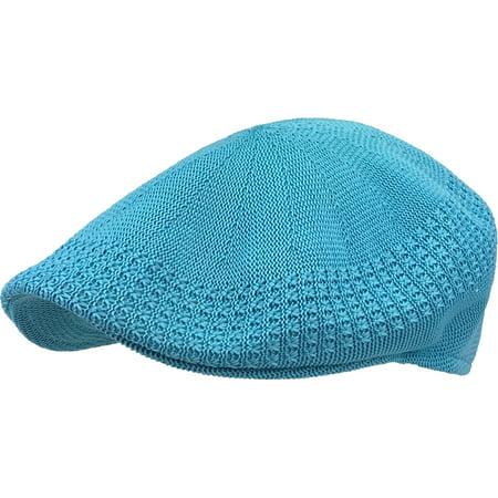 Classic Mesh Ivy Newsboy Ivy Cap Hat Crochet Driving Golf Ventair Cabbie Blue Adjustable Golf Hat