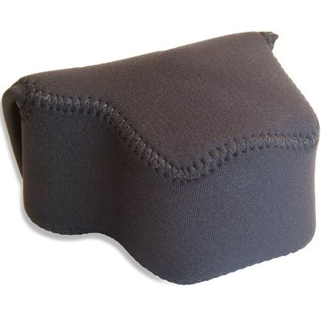 OP/TECH USA 7401044 Soft Pouch -Digital D-Shortie, Neoprene Pouch for Compact Digital Camera (4.75 x 3 x 3.75 Inch) (Black)