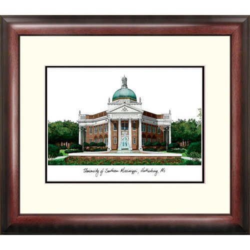 Southern Mississippi Alumnus Framed Lithograph