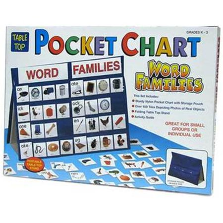 patch products 772 tabletop pocket chart word families walmart com