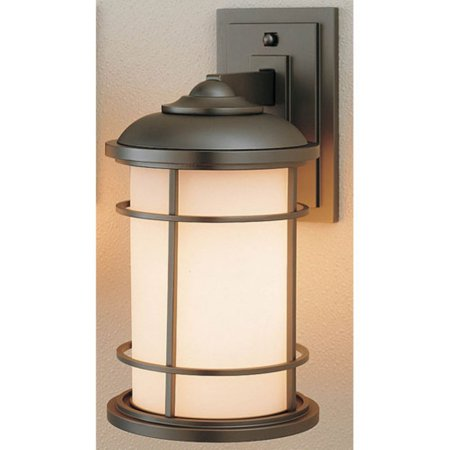 Feiss Lighthouse Outdoor Wall Lantern - 13.5H in. Burnished Bronze Burnished Bronze Outdoor Wall