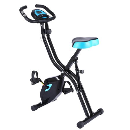 ANCHEE R Magnetic Upright Exercise Bike Folding Indoor Exercise Bike,APP Version