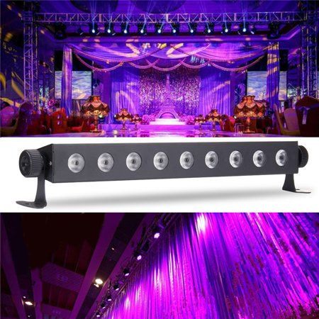 27W UV LED Black Light Bar Blacklight DJ Disco Party Wall Stage Lighting Bar Home djlight Decal US Plug - Black Lights For Parties