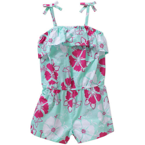 Healthtex Baby Toddler Girls' Tie Top Woven Romper