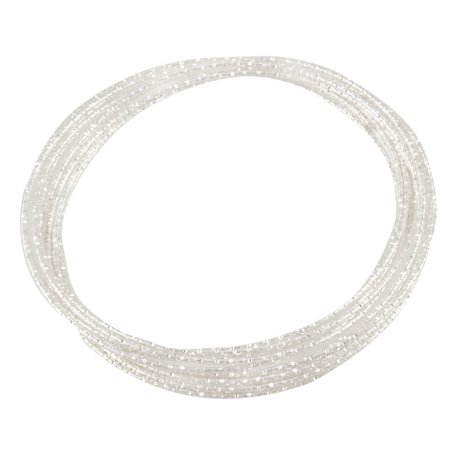 Silver Tone Metal Bracelet (Unique Bargains Unique Bargains Women Silver Tone Metal 10 Loops Interlocking Bangle Bracelet)