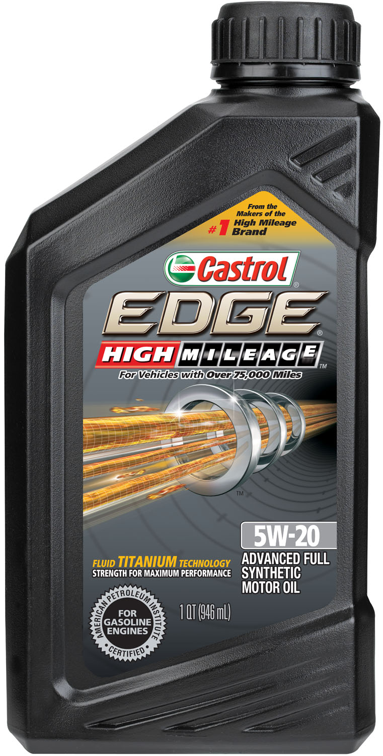 Castrol EDGE High Mileage 5W-20 Advanced Full Synthetic Motor Oil, 1 QT by Castrol