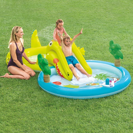 Intex Gator Inflatable Play Center with Water Sprayer, 127
