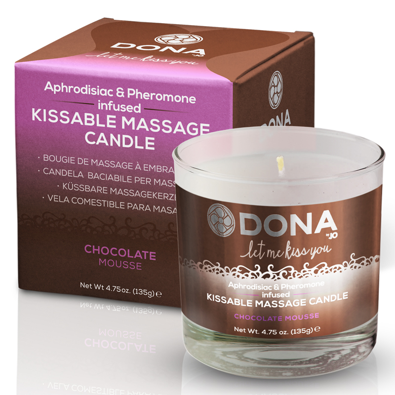 Dona Scented Soy Flirty Massage Candle - Chocolate Mousse - 4.75 oz