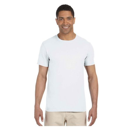 Gildan Men's Softstyle Preshrunk Tearaway Label T-Shirt, Style G64000 (Crate Label T-shirt)