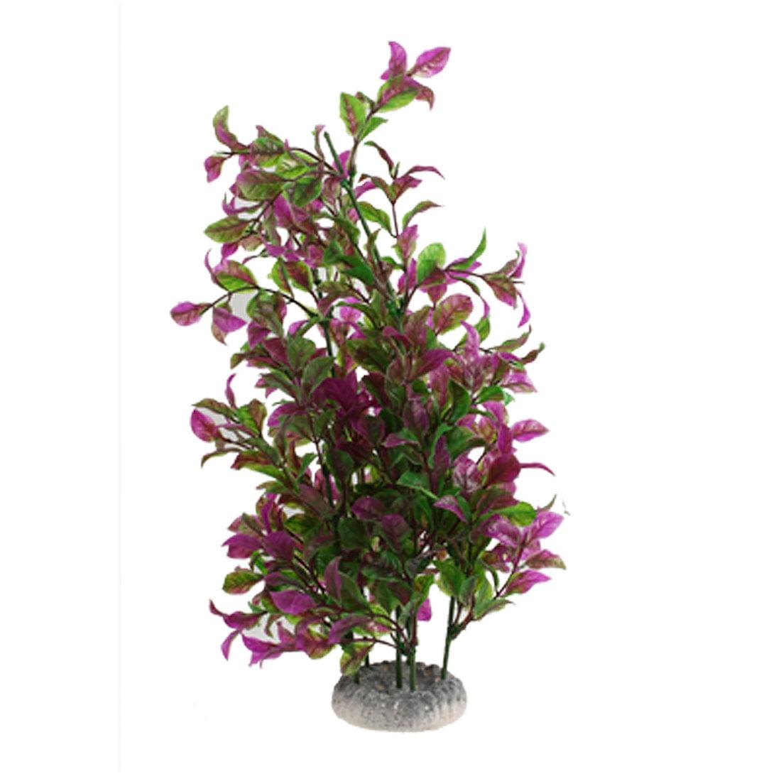 "13"" Height Manmade Plastic Grass Purple Green for Aquarium Decor by"