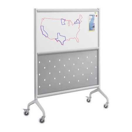 Rumba� Screen Whiteboard  Perforated Steel-Size:36 x 54 by