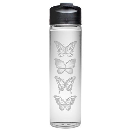 Susquehanna Glass Butterflies Travel Water Bottle](Butterfly Glasses)