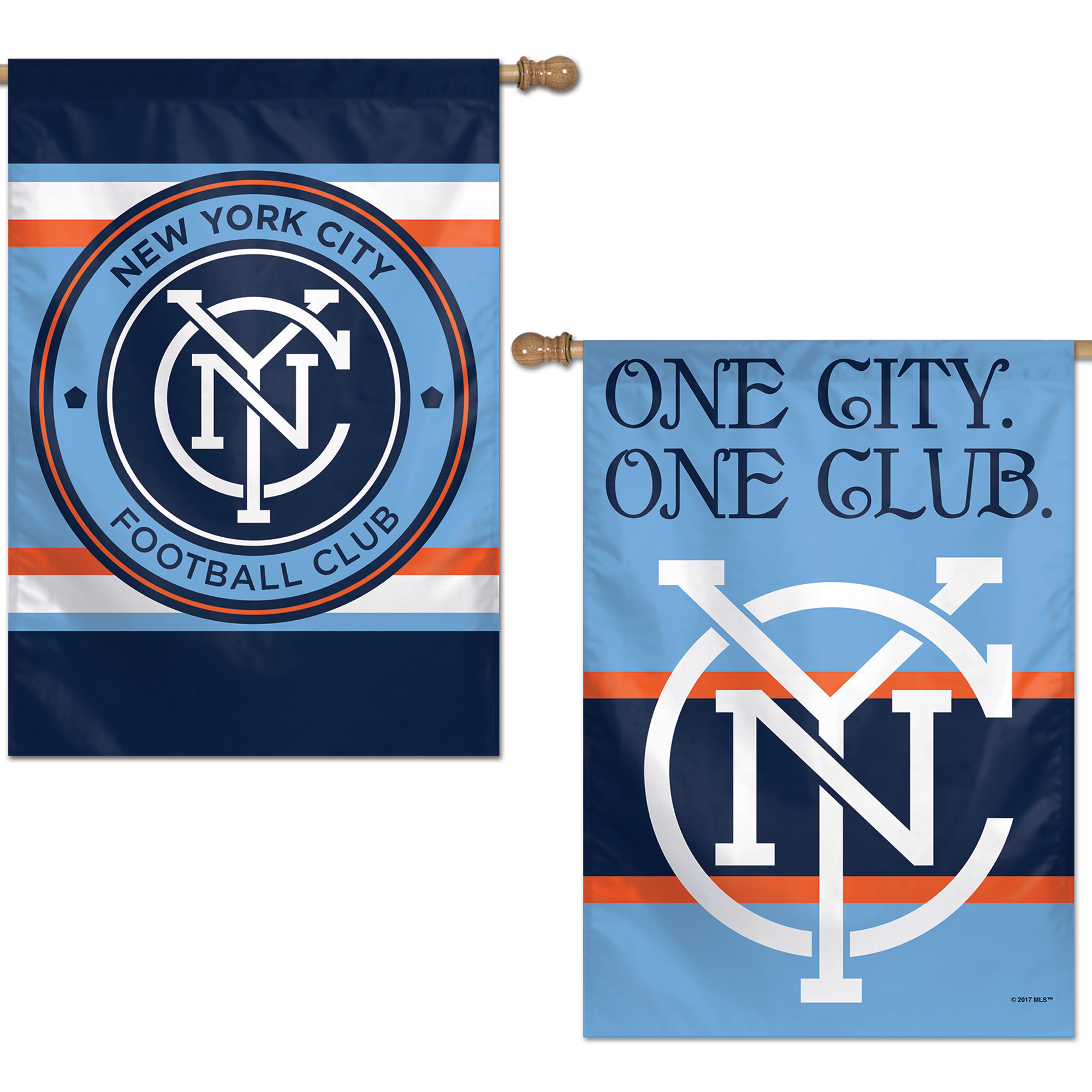 "New York City FC WinCraft 28"" x 40"" Double-Sided Vertical Flag - No Size"