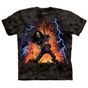 Black 100% Cotton Play With Fire Novelty T-Shirt