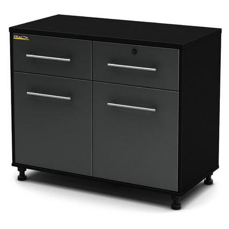 south shore karbon collection base storage cabinet pure black charcoal. Black Bedroom Furniture Sets. Home Design Ideas