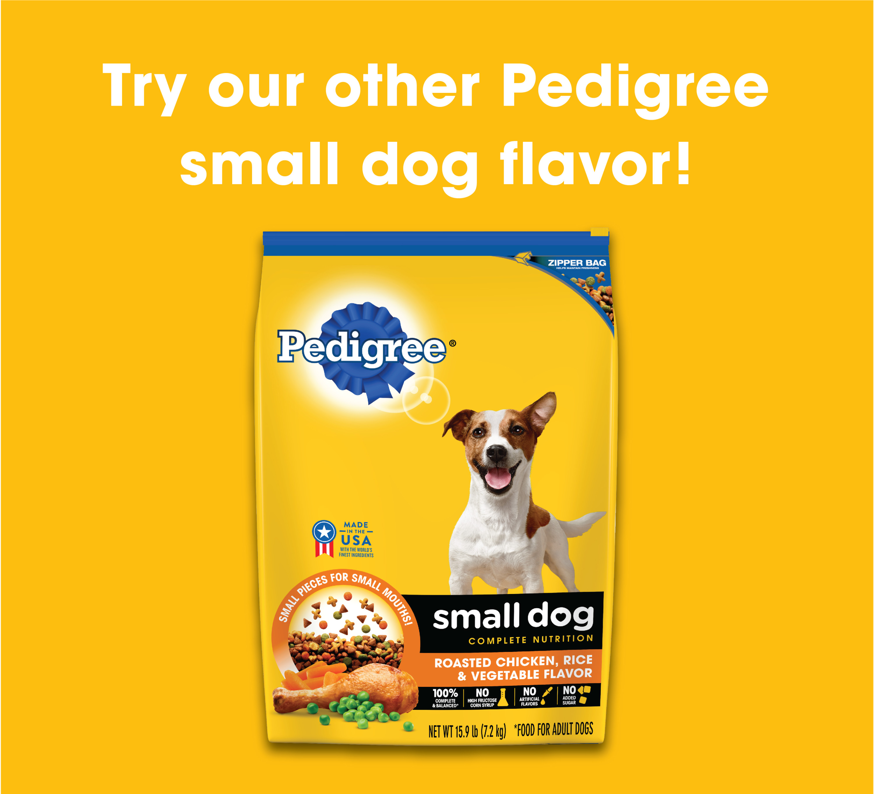 Pedigree Small Dog Adult Complete Nutrition Grilled Steak And