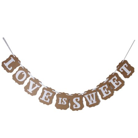 LOVE IS SWEET Garland Banner Banner Decoration for Wedding Ceremony