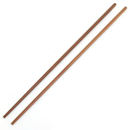 Unique Bargains Pair Dark Brown Bamboo Noodles Cooking Chopsticks 42cm 16.5