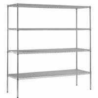 "Muscle Rack 18""D x 72""W x 86""H 4-Shelf Chrome Steel Shelving Unit"