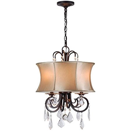 - World Imports Lighting 8853-89 Annelise 3-Light Convertible Chandelier Dual Mount