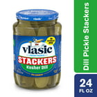 Vlasic Dill Pickle Sandwich Stackers, Kosher Dill Pickles, 24 Oz Jar