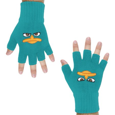 Phineas & Ferb - Perry Face Fingerless - Phineas And Ferb Halloween Costumes Perry