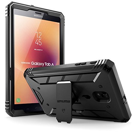 Galaxy Tab A 8.0 (2017) Case, Poetic Revolution Hybrid Heavy Duty Protection Built-in-Screen Protector Kickstand for Samsung Tab A2 S /SM-T385 /T380 /Galaxy Tab A 8.0 2017 [NOT FIT 2015 VERSION] Black (Poetic Samsung Tab 4 7)