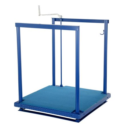 Vestil Manufacturing POS-3648-EH-MAT 36 x 48 in. Electric & Hydraulic Anti-Fatigue Work Platforms with Mat