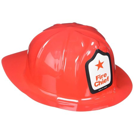 Adult Fireman Economy Hat, 12, Brand new fantastic value Novelty Fireman Plastic Helmet By Rhode Island Novelty for $<!---->