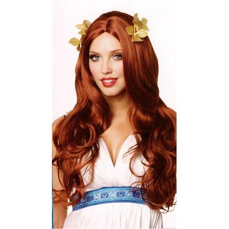 Long Red Greek Goddess Wig - Long Red Wig