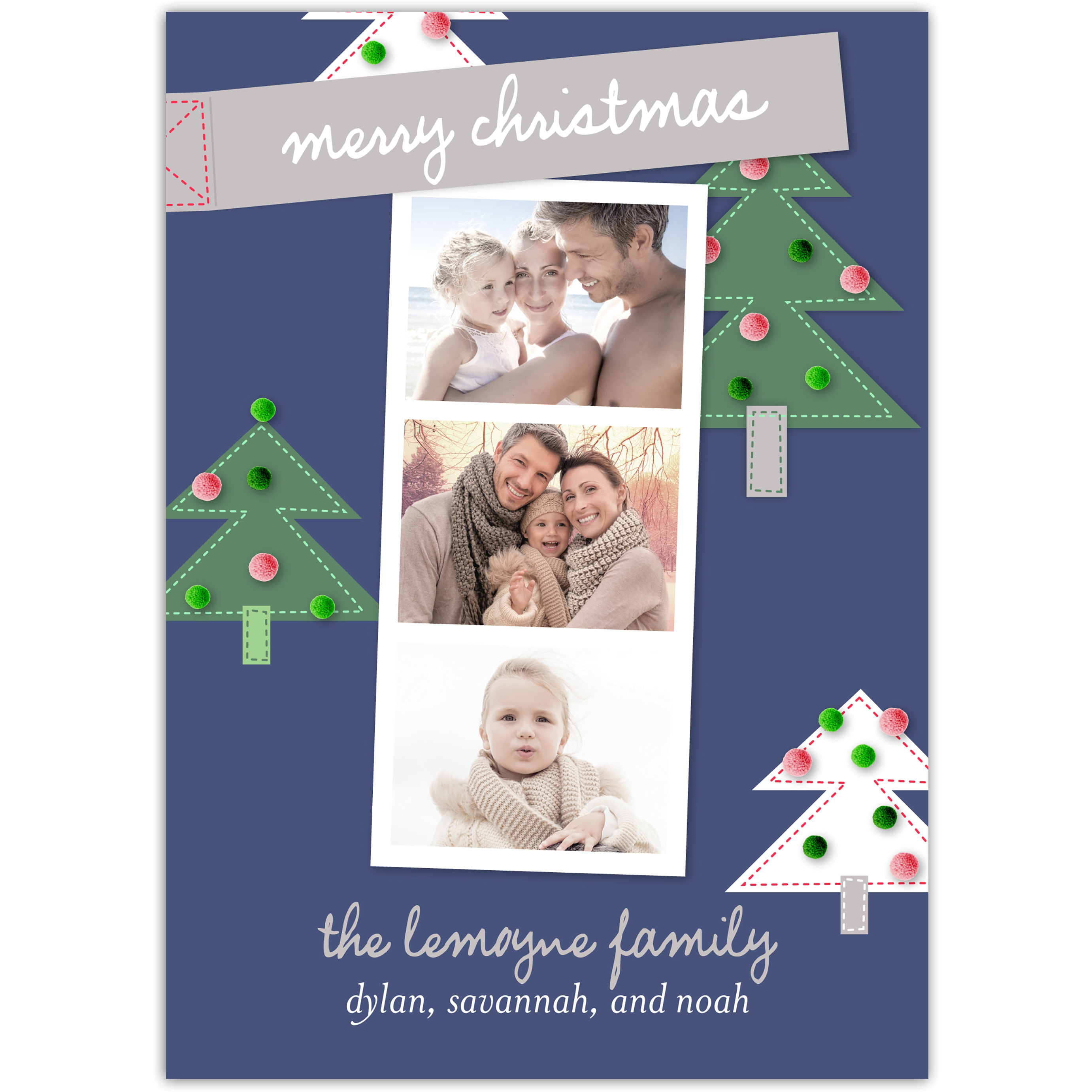 Holiday Memories - 5x7 Personalized Christmas Card