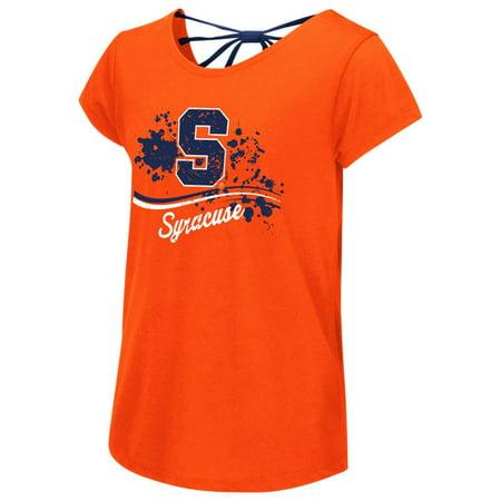 Syracuse University Youth Girls Bow Back Short Sleeve Tee