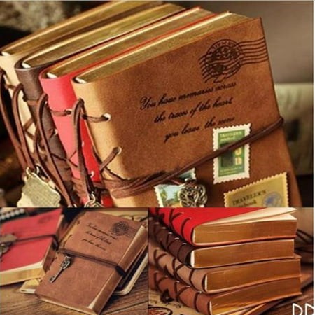 Retro Vintage Note Book Leather Key Blank Diary Notebook Journal Sketchbook US ()