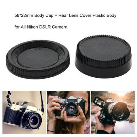 58*22mm Body Cap + Rear Lens Cover Plastic Body for All Nikon DSLR Camera - image 8 of 8